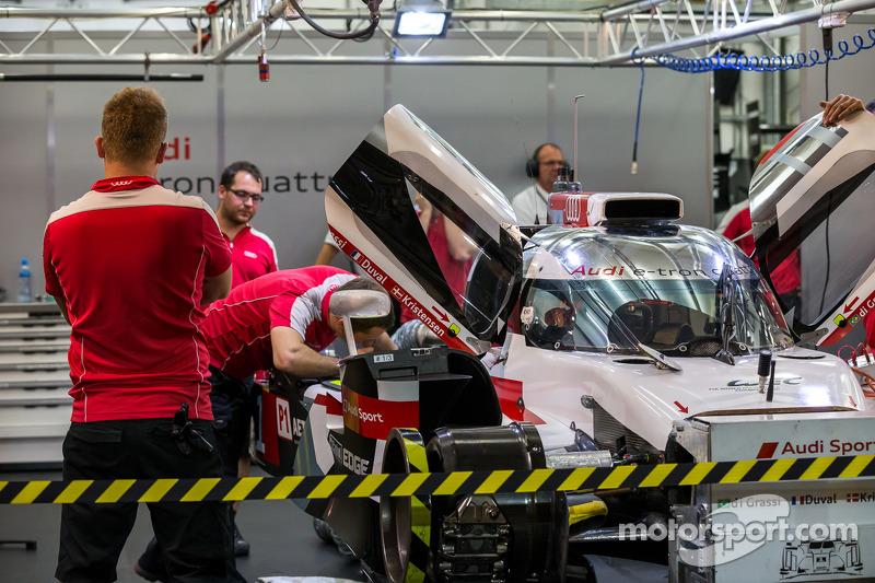 #1 Audi Sport Team Joest Audi R18 E-Tron Quattro não participa da classificação