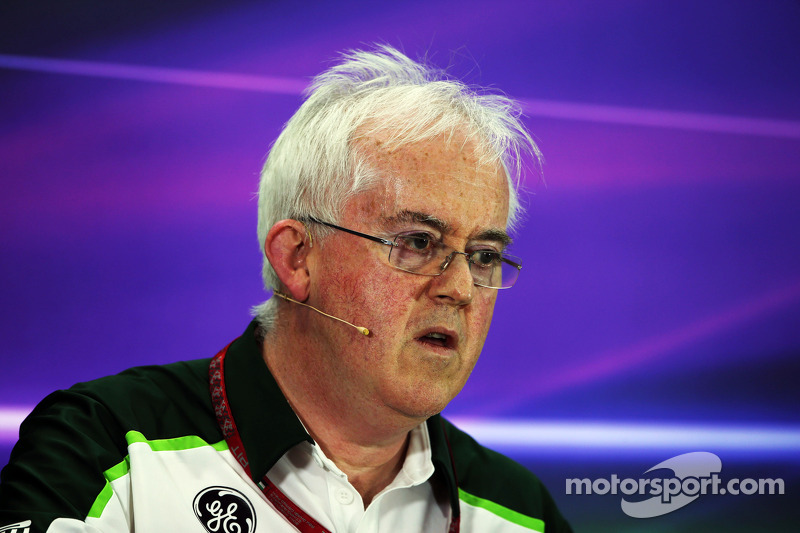 Finbarr O'Connell, Caterham F1 Team Administrator in the FIA Press Conference