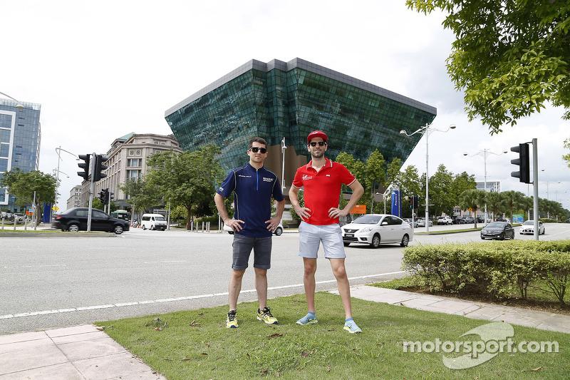 Nicolas Prost, e.dams-Renault y Jaime Alguersuari, Virgin Racing at de Putrajaya Energy  Commission Diamond Buildeng
