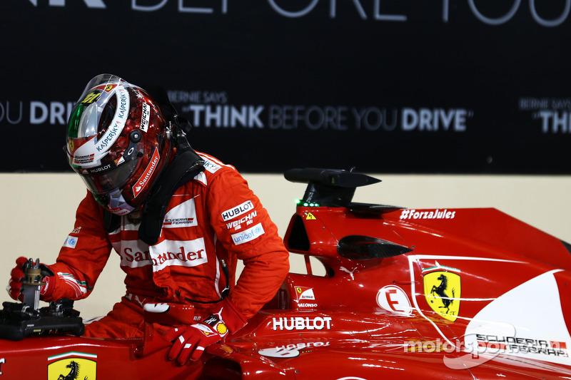 Fernando Alonso, Ferrari F14-T in parc ferme
