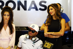 Nick Hamilton, and Nicole Scherzinger, Singer, brother and girlfriend of Lewis Hamilton, Mercedes AMG F1