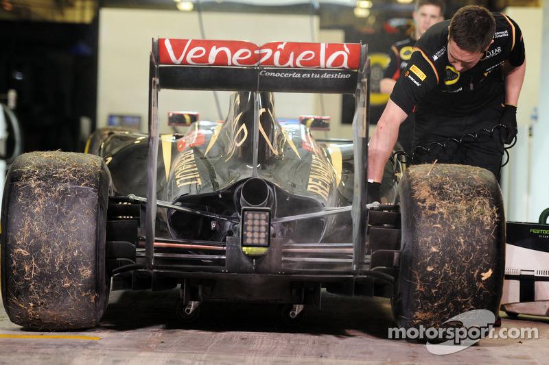 La Lotus F1 E22 del ritirato dalla gara Pastor Maldonado, Lotus F1 Team