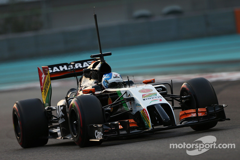Ноябрь 2014: Джолион Палмер. Тесты в Абу-Даби с Force India