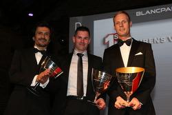 Terceros de la Blancpain Endurance Series-Pro Cup: Stéphane Ortelli, Gregory Guilvert, Edward Sandström