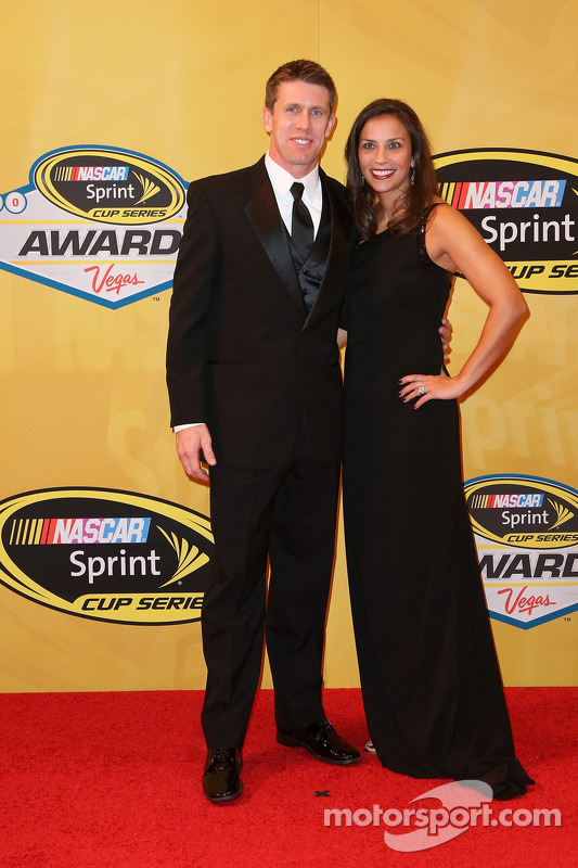 Carl Edwards e his wife Kate