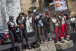 Podium: Winners Thierry Neuville, Nicolas Gilsoul, Hyundai Motorsport Hyundai i20 Coupe WRC, second place Sébastien Ogier, Julien Ingrassia, M-Sport Ford WRT Ford Fiesta WRC, third place Esapekka Lappi, Janne Ferm, Toyota Gazoo Racing WRT Toyota Yaris WRC