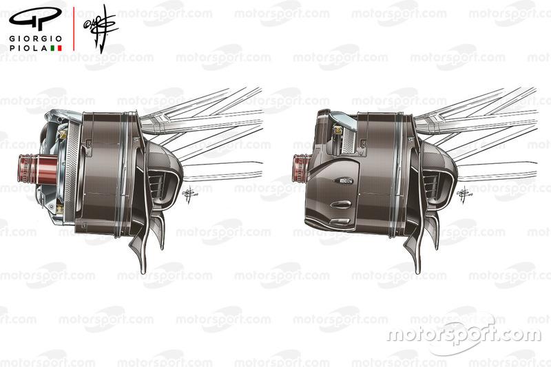 Ductos de los frenos delanteros del Renault R.S.18
