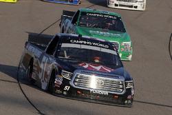 Harrison Burton, Kyle Busch Motorsports, Toyota Tundra Morton Buildings and Ben Rhodes, ThorSport Racing, Ford F-150