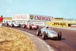 Jo Bonnier, Porsche 718, leads Giancarlo Baghetti, Ferrari Dino 156, and Dan Gurney, Porsche 718
