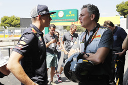 Max Verstappen, Red Bull Racing, with Mario Isola, Racing Manager, Pirelli Motorsport