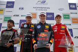 Podium: Race winner Dan Ticktum, Motopark Dallara F317 - Volkswagen, second place Jüri Vips, Motopark Dallara F317 - Volkswagen, third place Marcus Armstrong, PREMA Theodore Racing Dallara F317 - Mercedes-Benz