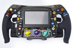 Mercedes AMG F1 W09 steering wheel