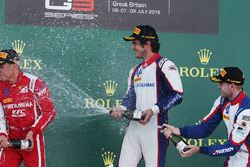 Podium: race winner Pedro Piquet, Trident, second place Giuliano Alesi, Trident, third place Ryan Tveter, Trident