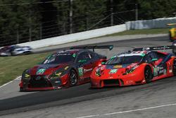 #15 3GT Racing Lexus RCF GT3, GTD: Jack Hawksworth, David Heinemeier Hansson #48 Paul Miller Racing Lamborghini Huracan GT3, GTD: Madison Snow, Bryan Sellers