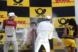 Podium: Race winner René Rast, Audi Sport Team Rosberg, third place Paul Di Resta, Mercedes-AMG Team HWA