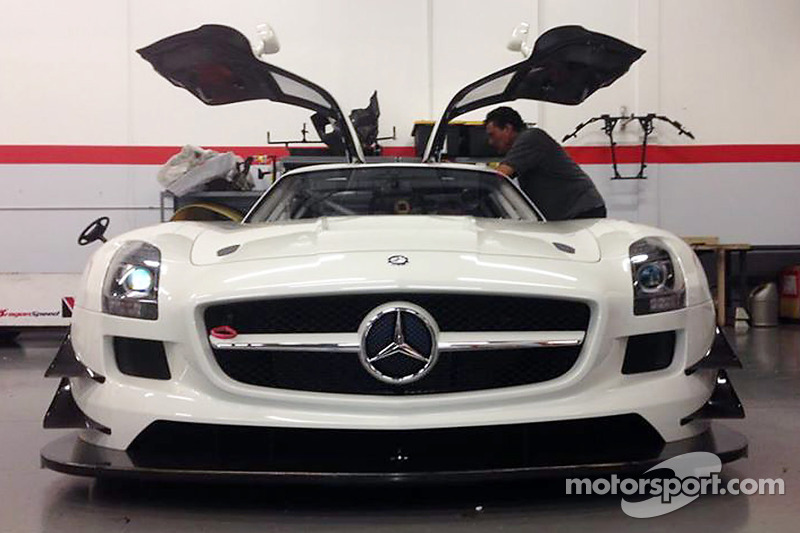 La nuova GT4 DragonSpeed Mercedes SLS AMG