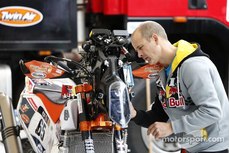 Motorrad-Vorbereitung