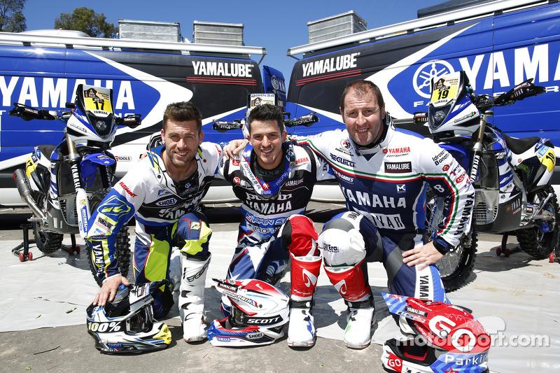 Pembalap Yamaha Michael Metge, Olivier Pain, Alessandro Botturi