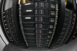 Servers used to process the information from cameras та sensors on pit road