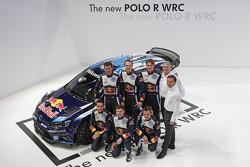 Яри-Матти Латвала, Микка Антила, Андреас Миккельсен, Ола Флене, Себастьен Ожье и Жюльен Инграссиа. Презентация Volkswagen Polo R, особое событие.