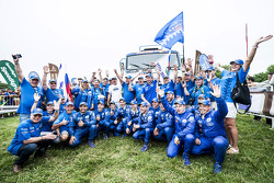 Kamaz Master team celebrates the truck category win