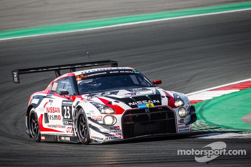 #23 Nissan GT Academy Team RJN, Nissan GTR GT3: Florian Strauss, Ricardo Sanchez, Ahmed Bin Khanen,