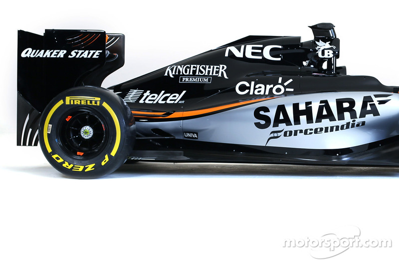 Das Design von Sahara Force India F1 2015