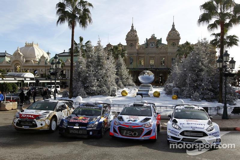 Citroën, Volkswagen, Hyundai, Ford WRC cars on display