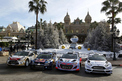 Citroën, Volkswagen, Hyundai, Ford WRC cars on display
