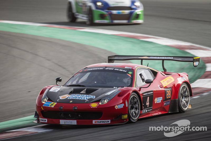 #4 Scuderia Praha Ferrari 458 Italia GT3: Jiri Pisarik, Jaromir Jirik, Matteo Malucelli, Peter Kox