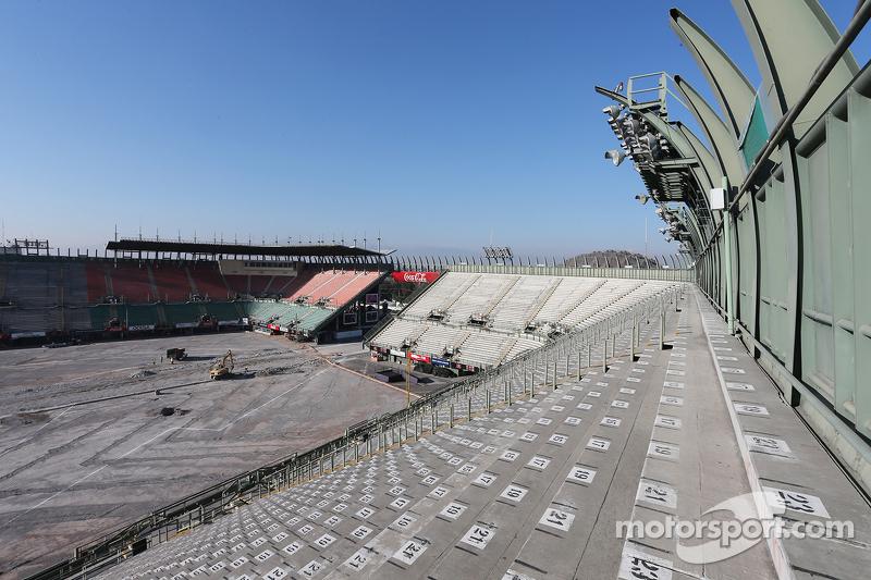 Bauarbeiten im Stadionbereich