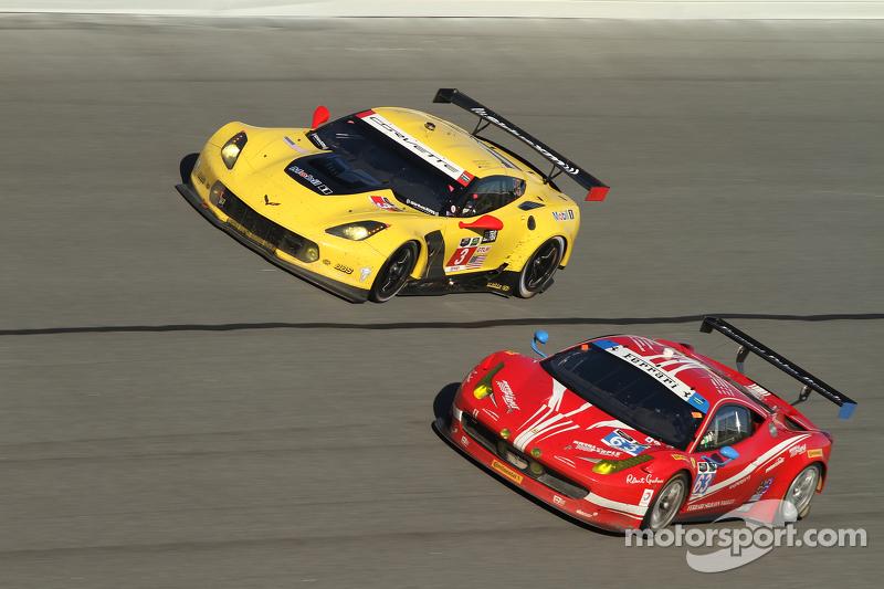 #3 Corvette Racing Chevrolet Corvette C7.R: Jan Magnussen, Antonio Garcia, Ryan Briscoe, #63 Scuderi