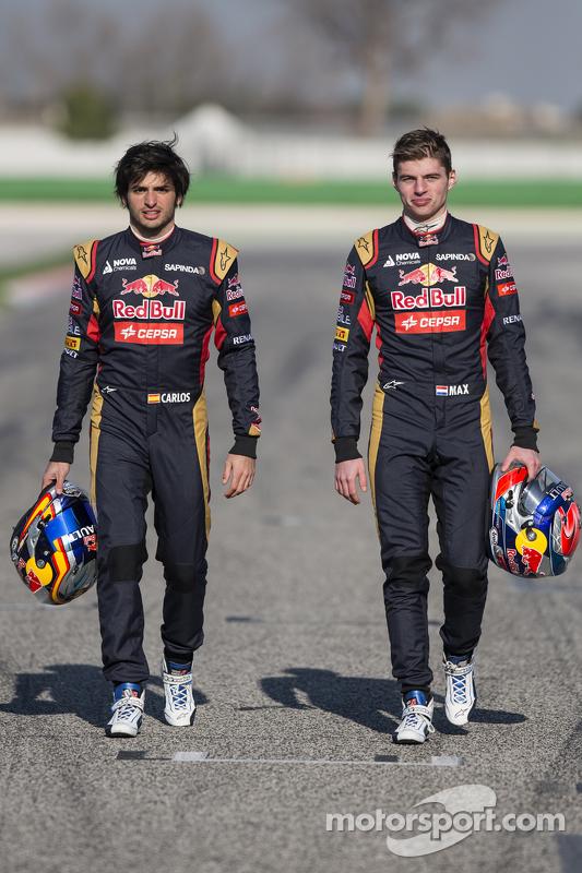 Max Verstappen ve Carlos Sainz Jr., Scuderia Toro Rosso