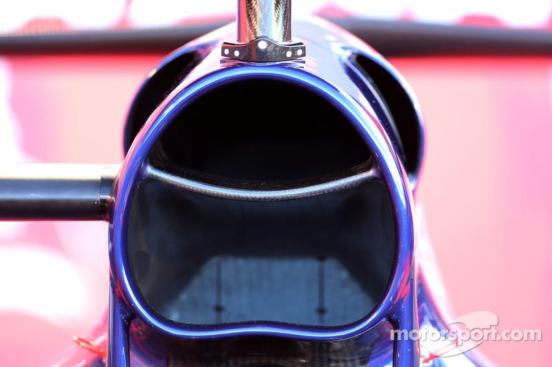 Detalhe técnico da Toro Rosso