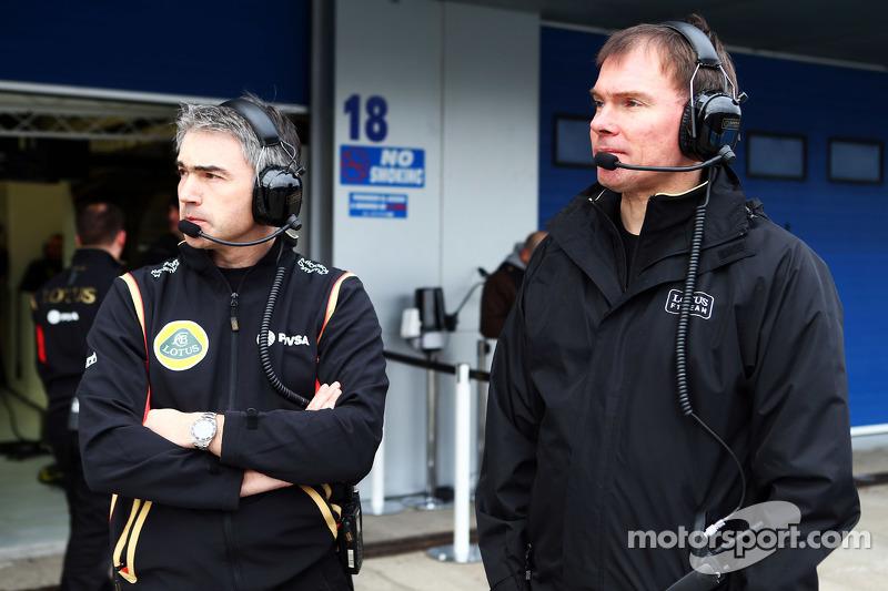 Nick Chester, Lotus F1 Team et Alan Permane, Lotus F1 Team
