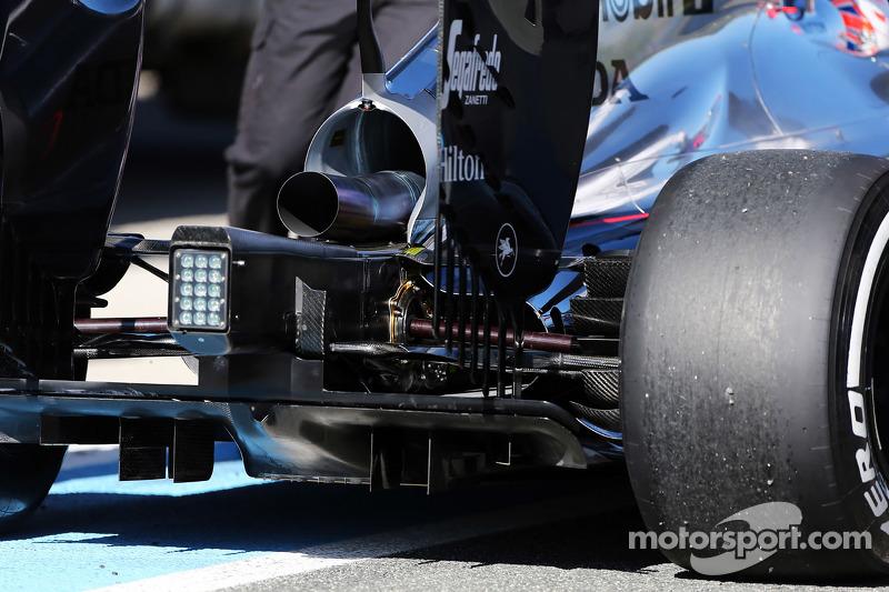 McLaren MP4-30 arka difüzör detayı