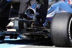 Detalle del escape del McLaren MP4-30