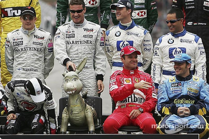 Séance de photos des pilotes du championnat du monde 2004 : Michael ?