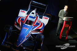 Stephen Watson (RSA) at the launch of A1 GP