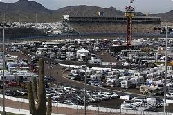 Paddock area at Phoenix International Raceway