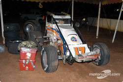 Mike Martin's car ready for unloading