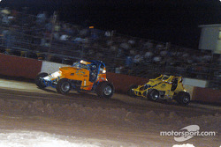 David Burns et le pilote de Sprint Car de Hawaii  Shannon Souza