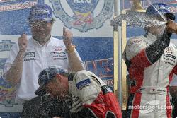 LM P1 podium: Tom Kristensen has had enough champagne