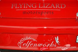 Close-up shot of the Flying Lizard Motorsports Porsche GT3 Cup