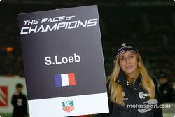 Grid girl of Sébastien Loeb