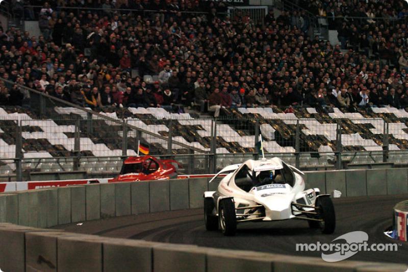Quarter-final: Felipe Massa and Michael Schumacher