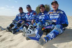 KTM team presentation: Gauloises KTM riders Cyril Despres, Alfie Cox, Fabrizio Meoni and Jean Brucy
