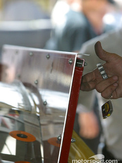 Template at technical inspection