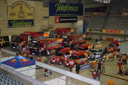 Mitsubishi Motors Repsol ATS Studios Team trucks and service cars