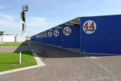The new garage area at Daytona International Speedway